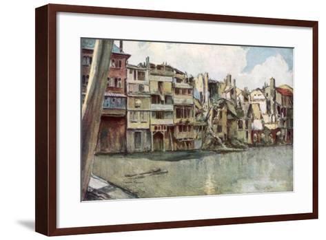 The Meuse River, Verdun, France, June 1916-Francois Flameng-Framed Art Print