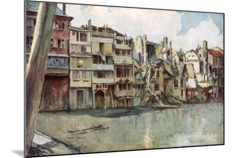 The Meuse River, Verdun, France, June 1916-Francois Flameng-Mounted Giclee Print