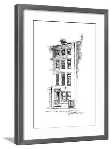 John Constable's House, Charlotte Street, Bloomsbury, London, 1912-Frederick Adcock-Framed Art Print