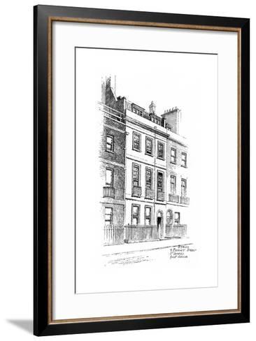 Lord Byron's House, 4 Bennet Street, St James, London, 1912-Frederick Adcock-Framed Art Print