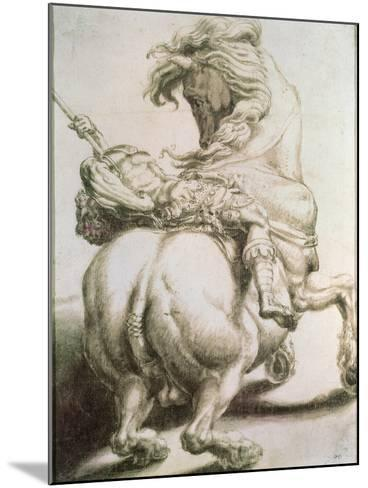 Rider Pierced by a Spear, 16th Century-Francesco Salviati-Mounted Giclee Print