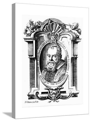 Galileo Galilei, Italian Astronomer and Mathematician, Early 17th Century-Francesco Villamena-Stretched Canvas Print