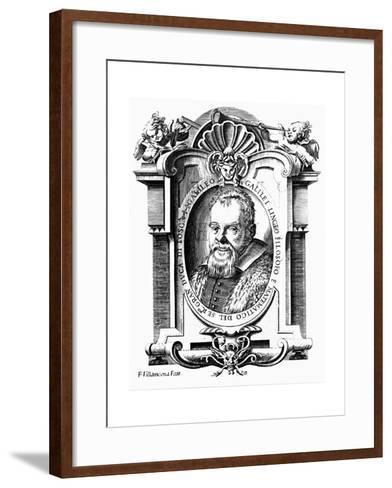 Galileo Galilei, Italian Astronomer and Mathematician, Early 17th Century-Francesco Villamena-Framed Art Print