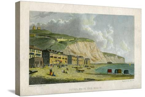 Dover, from the Beach, 19th Century- Francis-Stretched Canvas Print