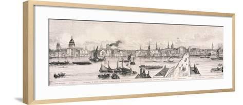 London from the River Thames, 1844-Frank Vizetelly-Framed Art Print