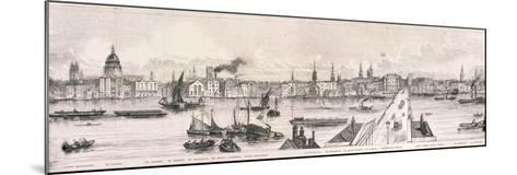 London from the River Thames, 1844-Frank Vizetelly-Mounted Giclee Print