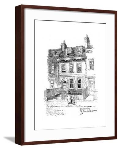 Thomas Day's House, 36 Wellclose Square, Whitechapel, London, 1912-Frederick Adcock-Framed Art Print