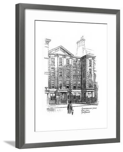 Gainsborough's House, Pall Mall, London, 1912-Frederick Adcock-Framed Art Print