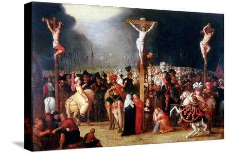 Christ on the Cross Between the Two Thieves, 17th Century-Frans Francken II-Stretched Canvas Print
