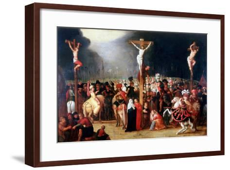 Christ on the Cross Between the Two Thieves, 17th Century-Frans Francken II-Framed Art Print