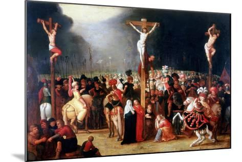 Christ on the Cross Between the Two Thieves, 17th Century-Frans Francken II-Mounted Giclee Print
