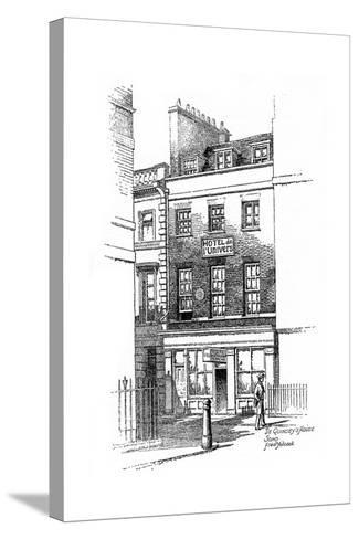Thomas De Quincey's House, Soho, London, 1912-Frederick Adcock-Stretched Canvas Print