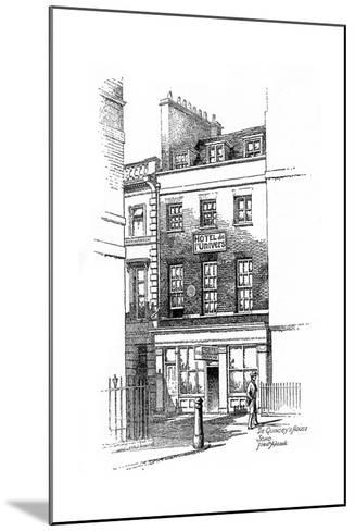 Thomas De Quincey's House, Soho, London, 1912-Frederick Adcock-Mounted Giclee Print