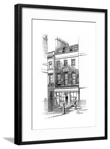 Thomas De Quincey's House, Soho, London, 1912-Frederick Adcock-Framed Art Print