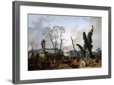 View of the 'Tapis Vert' in Versailles, 19th Century-Fanny Robert-Framed Art Print