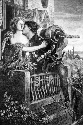 Scene from Shakespeare's Romeo and Juliet, C1860S-Ford Madox Brown-Stretched Canvas Print