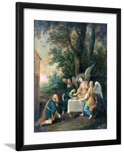Abraham Kneels in Front of Three Angels, 1581-1642-Frans Francken II-Framed Art Print