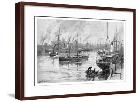 Melbourne from the Yarra, Victoria, Australia, 1886-Frederic B Schell-Framed Art Print