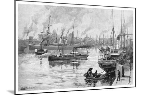 Melbourne from the Yarra, Victoria, Australia, 1886-Frederic B Schell-Mounted Giclee Print