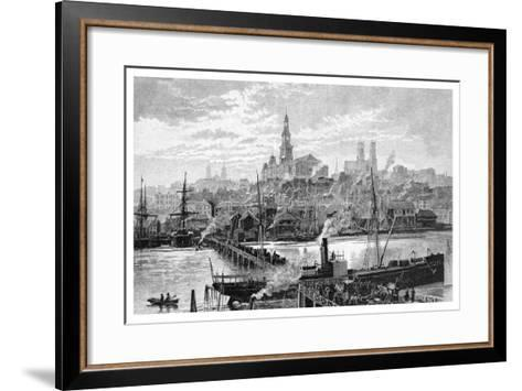 Darling Harbour, from Pyrmont, Sydney, New South Wales, Australia, 1886-Frederic B Schell-Framed Art Print