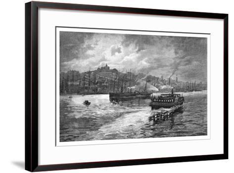Night Scene, Darling Harbour, Sydney, New South Wales, Australia, 1886-Frederic B Schell-Framed Art Print