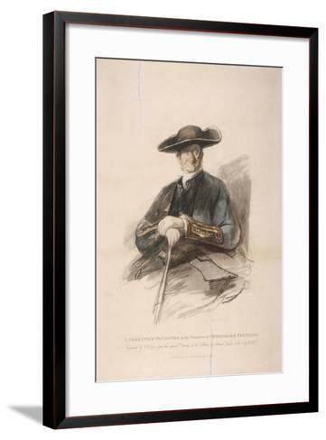 Greenwich Pensioner in the Character of Commodore Trunion, Greenwich Hospital, London, 1826-Frederick Christian Lewis-Framed Art Print