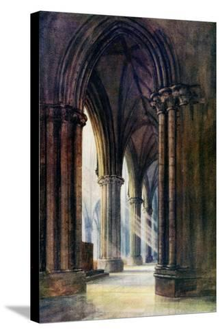 Interior of Lincoln Cathedral, 1924-1926-FP Dickinson-Stretched Canvas Print