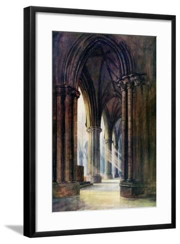Interior of Lincoln Cathedral, 1924-1926-FP Dickinson-Framed Art Print
