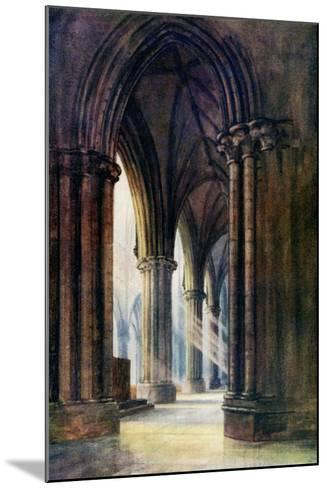 Interior of Lincoln Cathedral, 1924-1926-FP Dickinson-Mounted Giclee Print