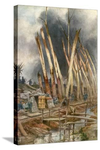The Offensive of Yser, 1917-Francois Flameng-Stretched Canvas Print