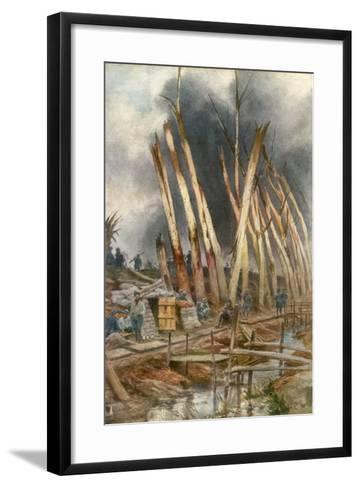 The Offensive of Yser, 1917-Francois Flameng-Framed Art Print