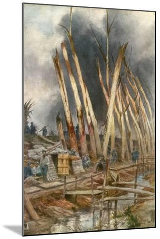 The Offensive of Yser, 1917-Francois Flameng-Mounted Giclee Print