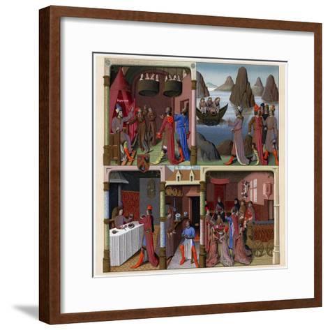 Sergius Orata and Other Romans, 1473-1480-Francois Fouquet-Framed Art Print