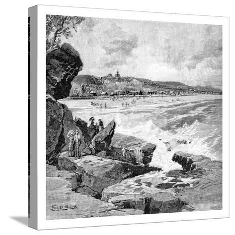 Ocean Beach, Sydney, New South Wales, Australia, 1886-Frederic B Schell-Stretched Canvas Print