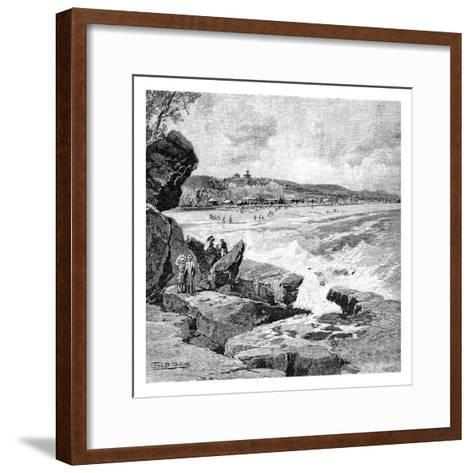 Ocean Beach, Sydney, New South Wales, Australia, 1886-Frederic B Schell-Framed Art Print