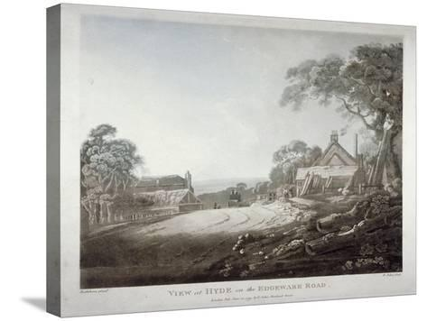 A Horse-Drawn Carriage Disappearing over a Hill on the Edgware Road, London, 1799-Francis Jukes-Stretched Canvas Print