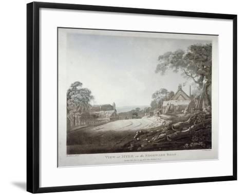 A Horse-Drawn Carriage Disappearing over a Hill on the Edgware Road, London, 1799-Francis Jukes-Framed Art Print
