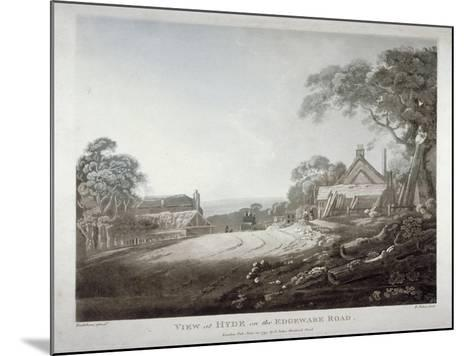 A Horse-Drawn Carriage Disappearing over a Hill on the Edgware Road, London, 1799-Francis Jukes-Mounted Giclee Print
