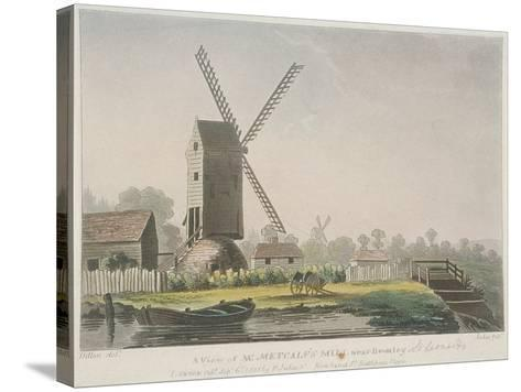 A View of Mr Metcalf's Mill Near Bromley, Bow, Poplar, London, 1785-Francis Jukes-Stretched Canvas Print