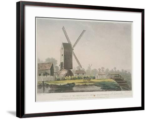 A View of Mr Metcalf's Mill Near Bromley, Bow, Poplar, London, 1785-Francis Jukes-Framed Art Print