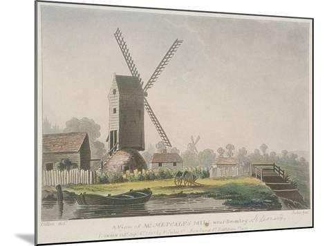 A View of Mr Metcalf's Mill Near Bromley, Bow, Poplar, London, 1785-Francis Jukes-Mounted Giclee Print