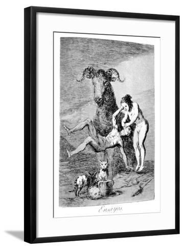 Trials, 1799-Francisco de Goya-Framed Art Print
