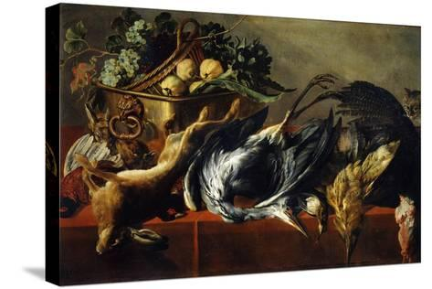 Still Life with an Ebony Chest, 17th Century-Frans Snyders-Stretched Canvas Print