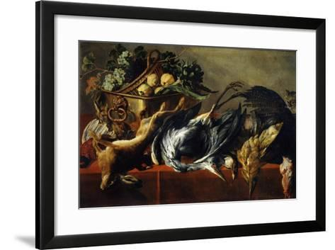 Still Life with an Ebony Chest, 17th Century-Frans Snyders-Framed Art Print