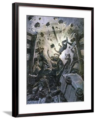 A Firedamp Explosion, France, 1892-F Meaulle-Framed Art Print