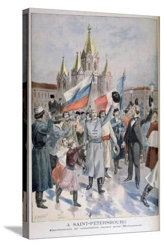 Enrolment of Russian Volunteers for Madagascar, St Petersburg, 1895-F Meaulle-Stretched Canvas Print