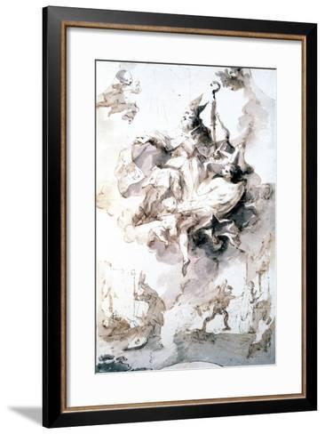Crowning Glory of Saint Stanislas, C1744-1796-Franz Anton Maulbertsch-Framed Art Print
