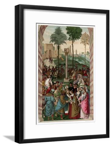 Aeneas Piccolomini Introduces Eleonora of Portugal to Frederick III, 1502-1508-Franz Kellerhoven-Framed Art Print