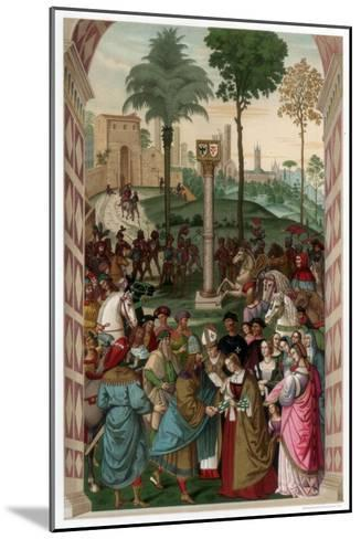 Aeneas Piccolomini Introduces Eleonora of Portugal to Frederick III, 1502-1508-Franz Kellerhoven-Mounted Giclee Print