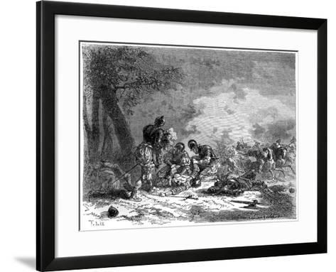 The Death of the Prince D'Orange, Florence, Italy, 1530 (1882-188)-Frederic Lix-Framed Art Print